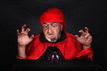 Soothsayer Predicts Future Fortune Telling Using Magic Crystal Ball