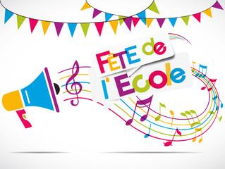 Fototapetamégaphone : fête de l'école / kermesse