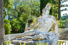 Front Sculpture Of The Dying Achilles In Achilleion Corfu