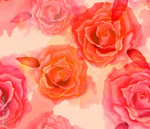 vintage-styled-watercolour-rose-seamless-background-pattern