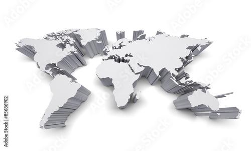 Empty world map