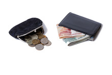 Purse With Coins And Wallet Wi...