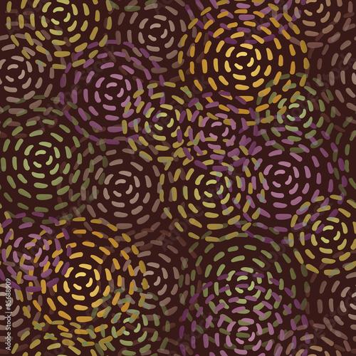 Keuken foto achterwand Vrouw gezicht Endless round brown spots.