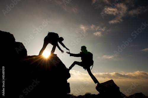 Foto op Plexiglas Alpinisme dağcı yardım eli&dağcılık faaliyetleri