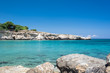 Crystal clear waters and sandstone rocks of the Mediterranean Se