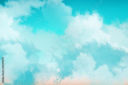 Papiers peints Turquoise ciels nuages