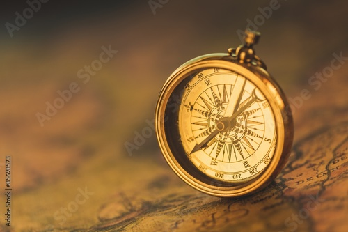 Foto  History, Compass, Map.