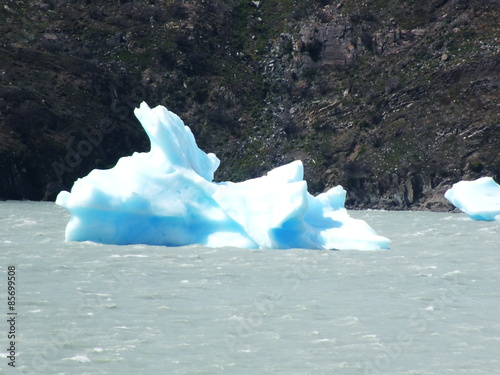 Spoed Foto op Canvas Poolcirkel Gray Glacier in Patagonia