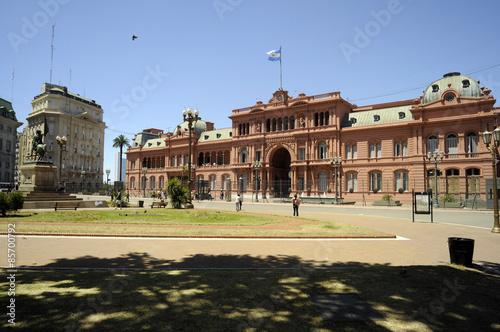 Fotografie, Tablou  Casa Rosada Buenos Aires Argentina Ružičasta kuća Каса Росада 阿根廷总统府 קאסה רוסאדה
