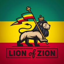 Judah Lion With A Rastafari Fl...