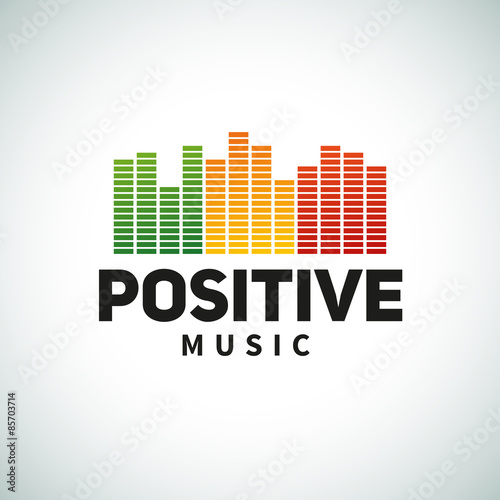 Reggae music equalizer logo emblem vector design  Positive dub - Buy