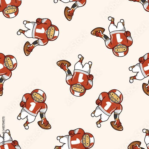 Poster de jardin Chambre bébé football player , cartoon seamless pattern background