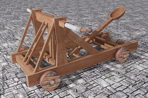 Catapult Canvas Print
