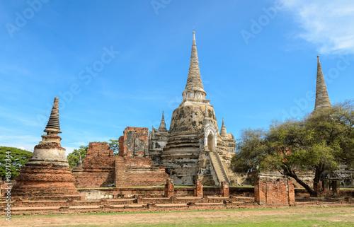 Spoed Foto op Canvas Bedehuis Wat Phra Si Sanphet in Ayutthaya, Thailand