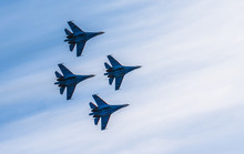 Silhouettes Of Russian Fighter...