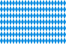 Oktoberfest Background With Blue Checked Repeatable Rhombus