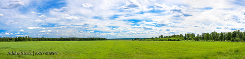Recess Fitting Panorama Photos summer landscape a panorama with a field , agriculture