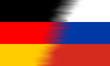 canvas print picture - Fahne / Flagge (Deutschland - Russland)