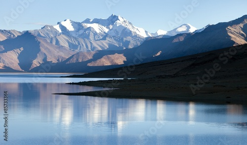 Tso Moriri Lake with Great Himalayan Range, Rupshu valley