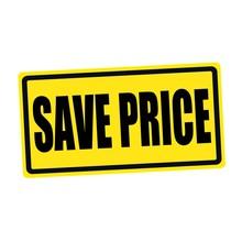 Save Price Black Stamp Text On Yellow