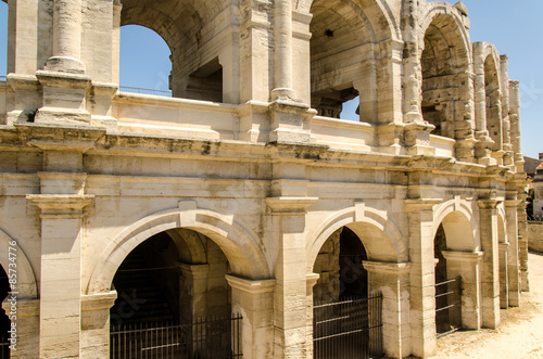 Amphitheater in Arles Canvas Print