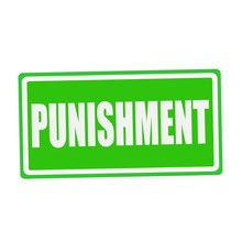 PUNISHMENT White Stamp Text On...