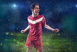 Krzyczący piłkarz