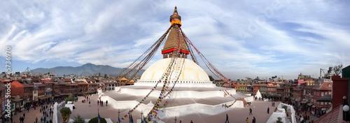 Fotografia View of Bodhnath stupa