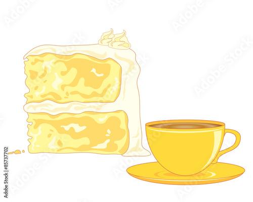 Canvas Print butter sponge cake