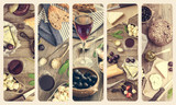 French cuisine collage - 85738711