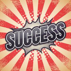 Retro poster, Success Vector illustration