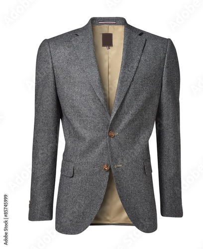 mens jacket isolated on white Canvas Print