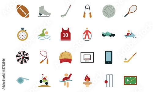 Photo Sports and Games Colored Icons 2