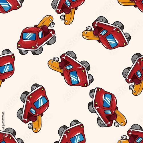 Fotobehang Cars truck , cartoon seamless pattern background