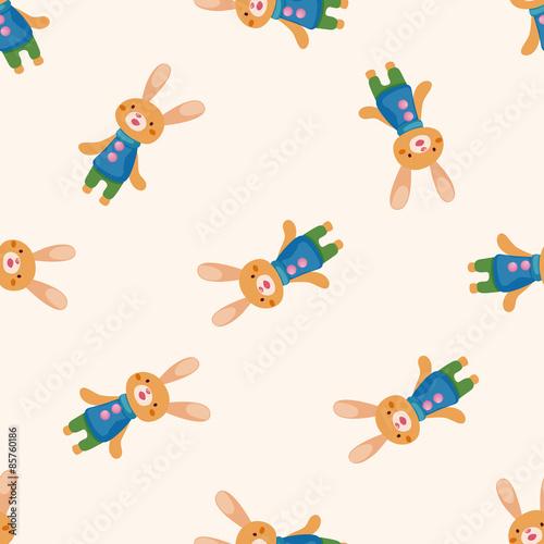 Photo sur Aluminium Hibou rabbit , cartoon seamless pattern background