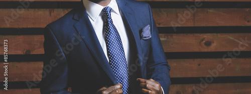 Obraz na plátne Businessman in a smart suit.