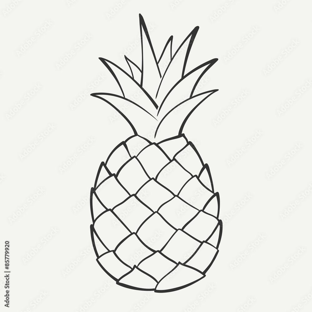 ananas bilder zum ausmalen  malvorlagen