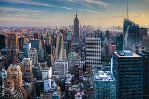 Manhattan Skyline at Twilight Poster