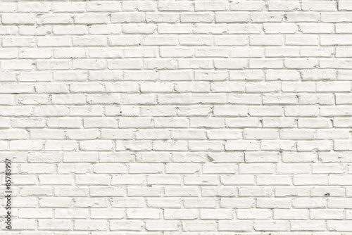 Tuinposter Baksteen muur White brick wall background