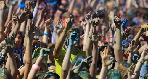 Plakat Tłum ludzi na festiwalu