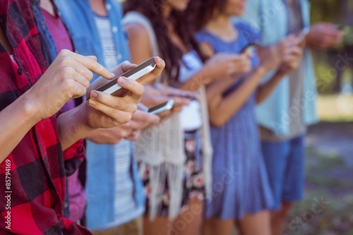 Fototapety, obrazy: People on our phone