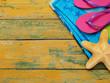 Beach items on deck