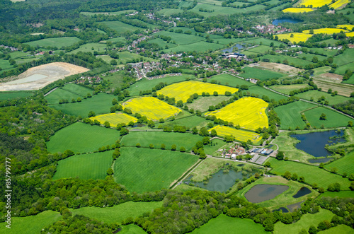 Arable fields, Aerial view