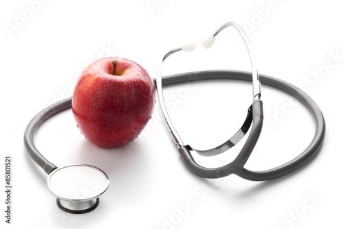 Fotografie, Obraz  Protege tu salud con una comida sana: manzana