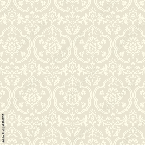 Fotografie, Obraz  Damask Wallpaper Pattern