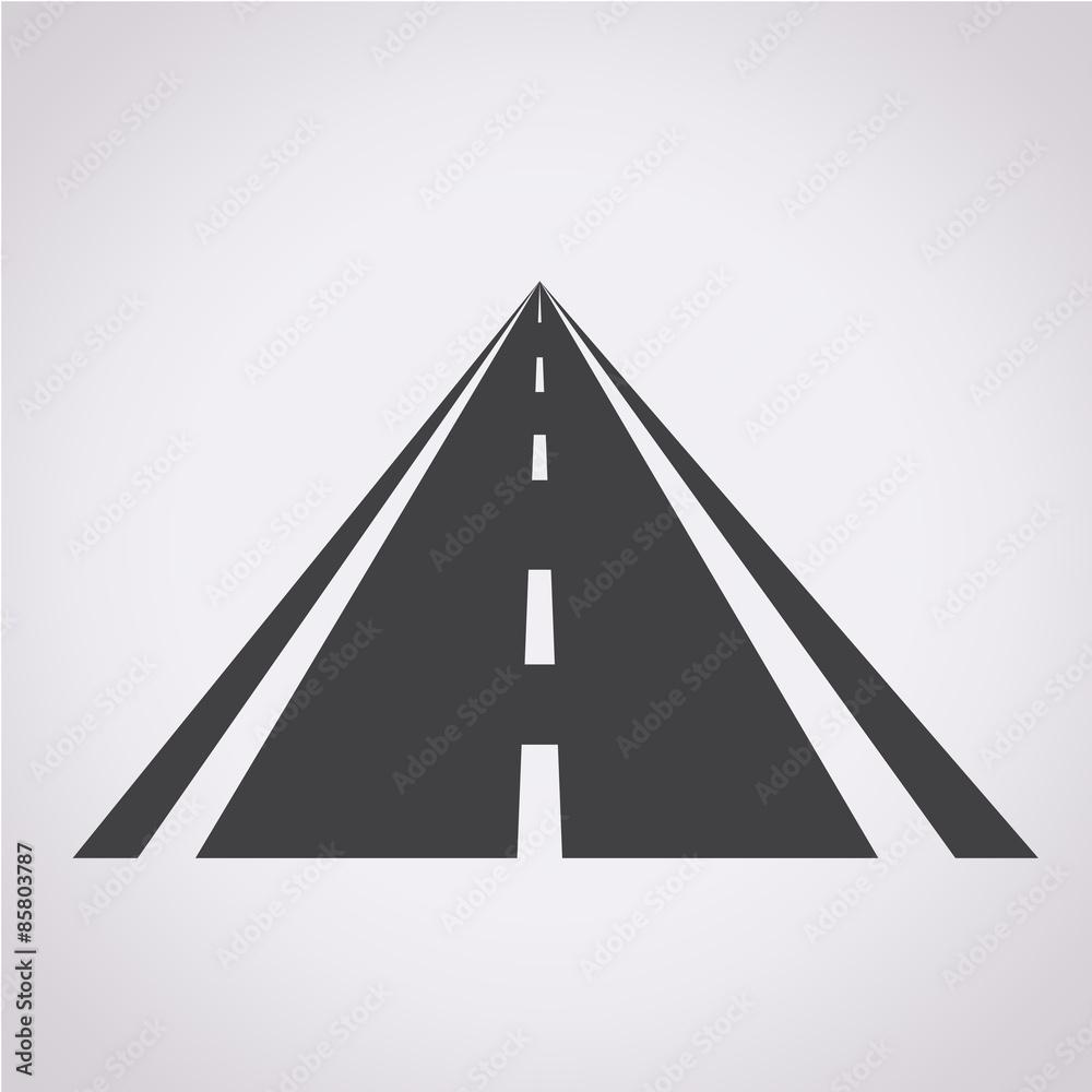Fototapeta road icon