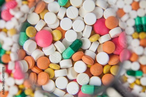 Leinwand Poster Pillen und Kapseln
