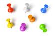 Leinwandbild Motiv push pins set