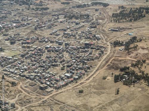 Staande foto Afrika low cost housing in Africa
