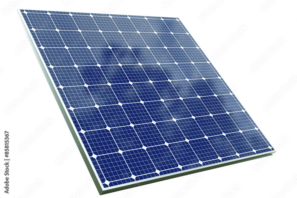 Fototapety, obrazy: solar cell panel with clipping path